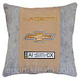 Подушка декоративная в авто с логотипом Chevrolet, фото 4