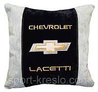 Подушка декоративная в авто с логотипом Chevrolet, фото 1