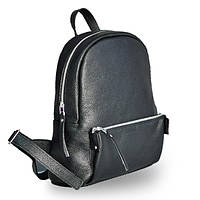 Женский рюкзак кожаный с мягкой спинкой черного цвета pilot s black soft Jizuz