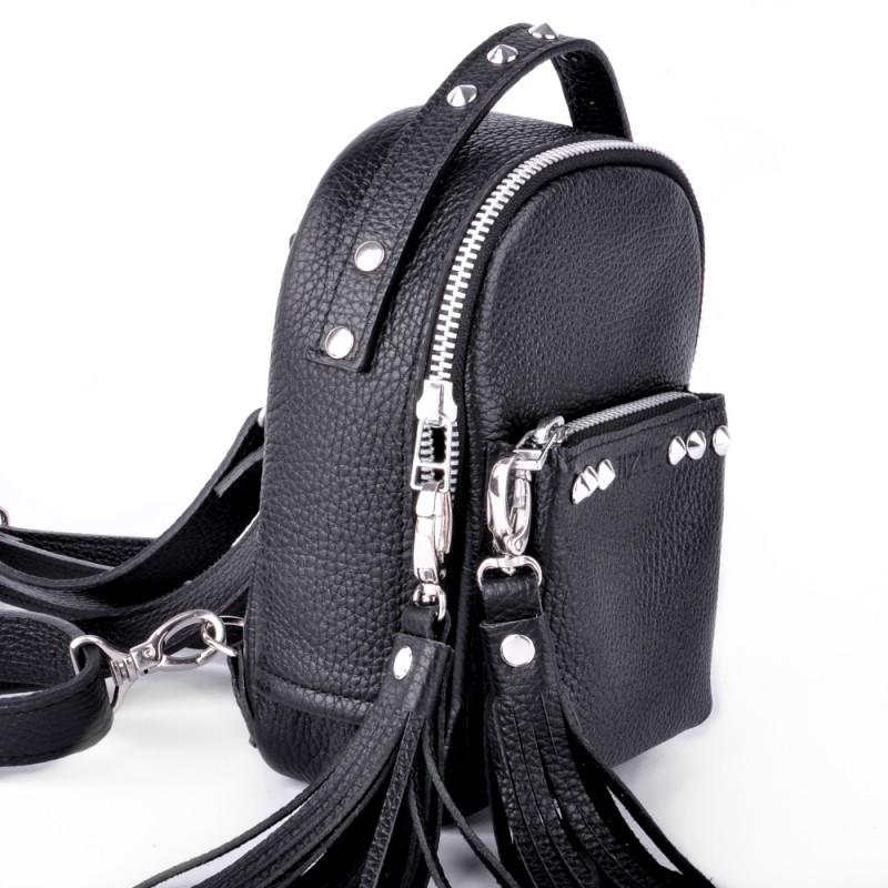 474720035548 Очень маленький кожаный рюкзак женский original scotty black Jizuz - Omama.  Интернет-магазин для