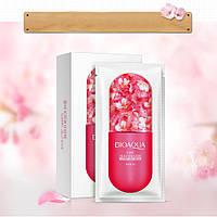 """Ночная несмываемая маска-гель на основе цветков вишни """"Bioaqua"""" , 8 гр."""