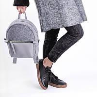 Комбинированный женский рюкзак кожаный + войлок sport felt Jizuz