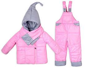 Детский зимний комбинезон Гномик с шарфом