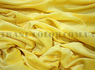 Велюр стрейчевый желтый