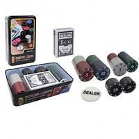 Покерный набор в металлической коробке POKER CHIPS PROFFESIONAL
