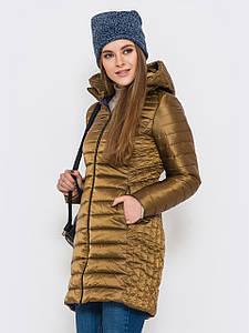 Женская зимняя куртка удлиненная утеплитель G-Loft
