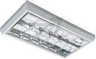 Светильник растровый  Northcliffe накладной G13 18 Вт серый Passat 218 A31