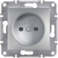 Розетка без заземления  Schneider Electric ASFORA 16 А 250 В без шторок алюминий EPH3000161