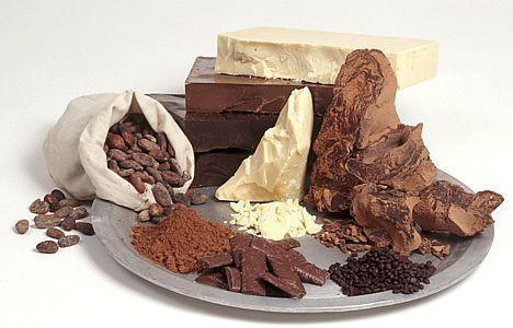 Какао-продукты (масло, тертое, бобы)