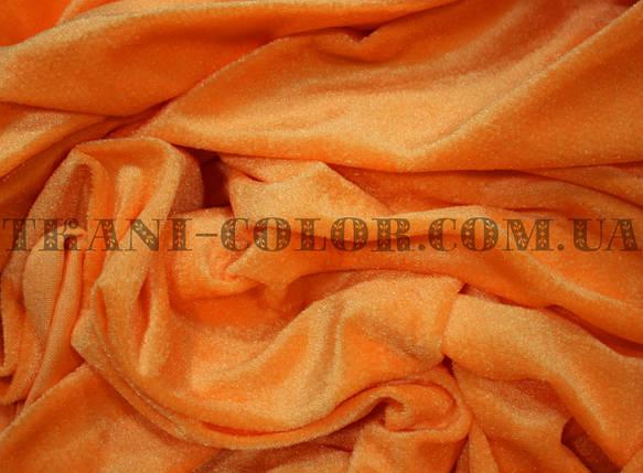 Велюр стрейчевый оранжевый, фото 2