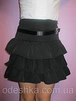 Юбка школьная с декоративным поясом, фото 1
