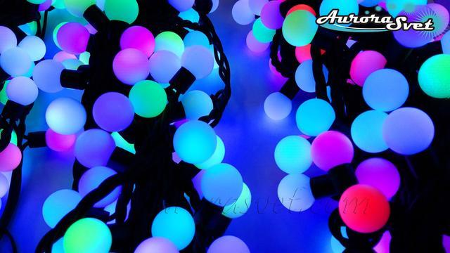 LED гирлянда RGB шарики (18mm) от AuroraSvet