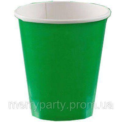 266 мл 8 шт./уп Набор стаканов зеленый США бумажный