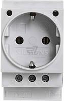 Розетка на DIN-рейку с заземлением Siemens без шторок белый 5TE6800