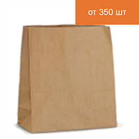 Бурый крафт-пакет на вынос 335х260х140мм
