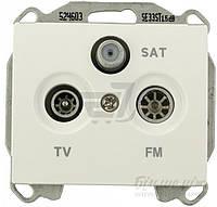 Розетка TV+R+SAT  Siemens IRIS концевая белоснежный 2918 W
