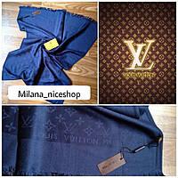 Палантин Louis Vuitton синий, фото 1