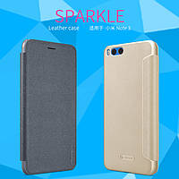 Кожаный чехол Nillkin Sparkle для Xiaomi Mi Note 3 (2 цвета)