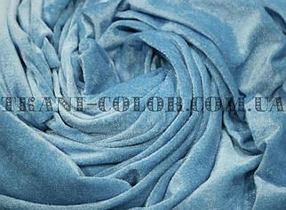 Велюр стрейчевий блакитний
