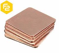Термопрокладка (пластина) медная  0.1 мм (1 шт.)