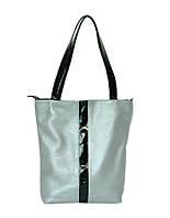 Женская кожаная сумка 27 SF Серебро