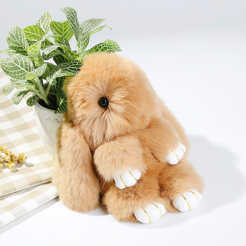 Брелок на сумку кролик из искусственного меха Rex Fendi (Рекс Фенди) рыжий, 19 см