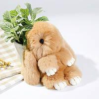 Брелок на сумку кролик из искусственного меха Rex Fendi (Рекс Фенди) рыжий, 19 см, фото 1