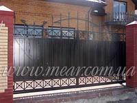 Ворота откатные автоматические арт.аv.11