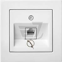 Розетка телефонная Liregus Epsilon белый ITL-001-01 E/B
