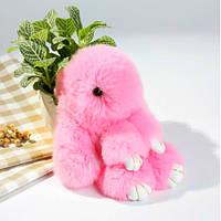 Брелок на сумку кролик із штучного хутра Rex Fendi (Рекс Фенді) рожевий, 19 см