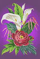 """Схема для вышивки бисером/крестом на габардине """"Возвышенная любовь (фиолетовый фон)"""""""