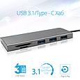 USB Type-C ХАБ Promate Synchub-C3 Grey, фото 2