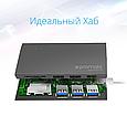 USB Type-C ХАБ Promate Synchub-C3 Grey, фото 5