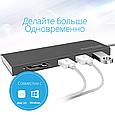 USB Type-C ХАБ Promate Synchub-C3 Grey, фото 6