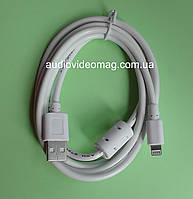 Кабель USB - Apple Lightning для iPhone 5/6/ iPad Air, белый. Длина 1,5 метра