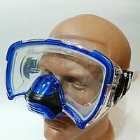 Маска для плавания с дыхательным клапаном (для взрослых). Маска для плавання.