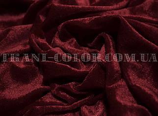 Велюр стрейчевый бордовый