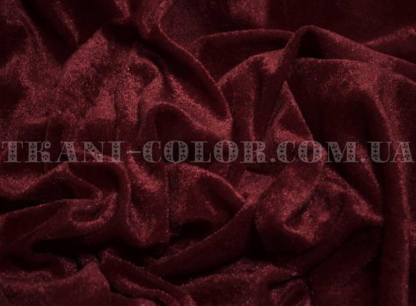 Велюр стрейчевый бордовый, фото 2