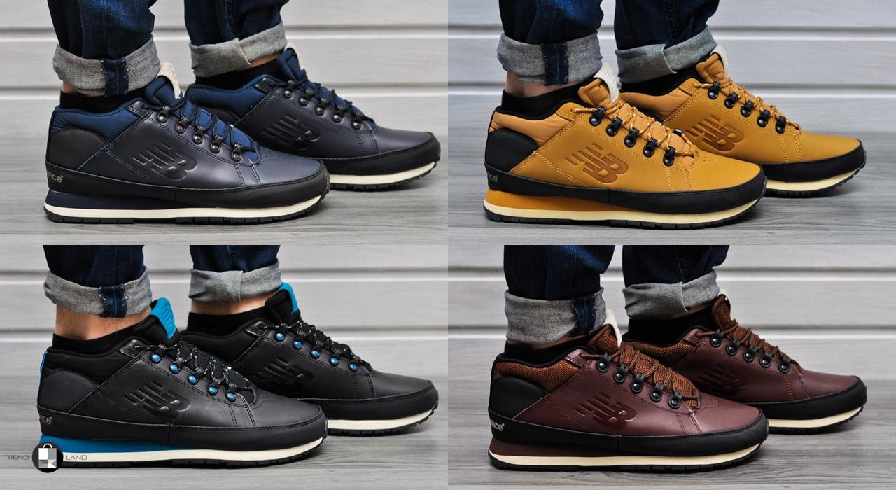 Мужские зимние кроссовки New Balance 754 Fur   Leather 5 цветов (Реплика  AAA+) - 23f3d1040ac