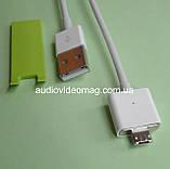 Кабель USB - micro USB, магнітний штекер, зарядка та синхронізація, фото 2