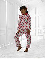 Детская теплая домашняя пижама на девочку