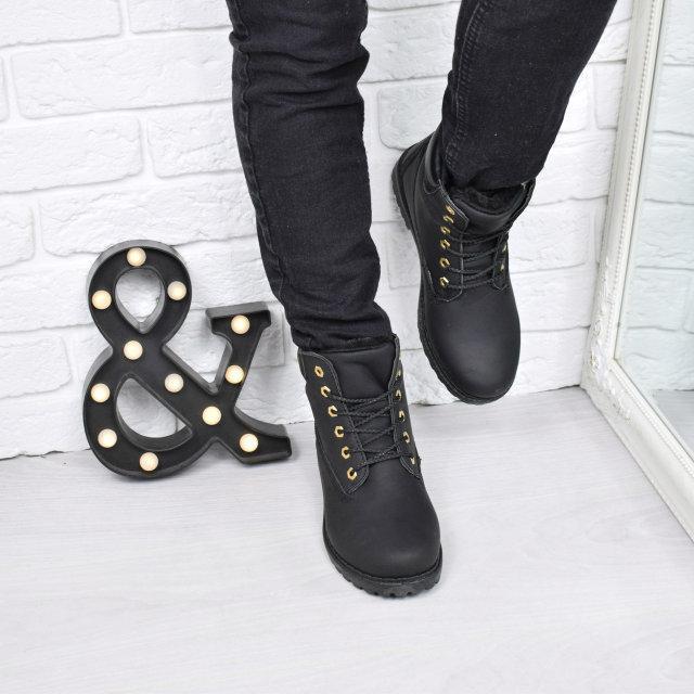 1bee3df86fda Ботинки женские Timber черные Зима 3778, ботинки женские - AlexTop в Днепре