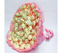 Букет из игрушек Мишки 51 розовый