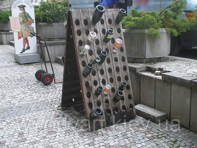 Стеллаж для бутылок деревянный