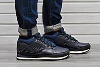 Мужские зимние кроссовки New Balance 754 Fur & Leather 5 цвета синий