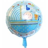 """Воздушный шар Круг 18"""" Baby Boy в коляске"""