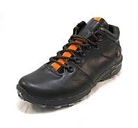 Ботинки  мужские с мехом Jordan кожаные  черные (р.42,44)