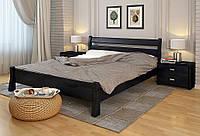 Кровать деревянная Венеция двуспальная из натурального дерева 90х200, Сосна