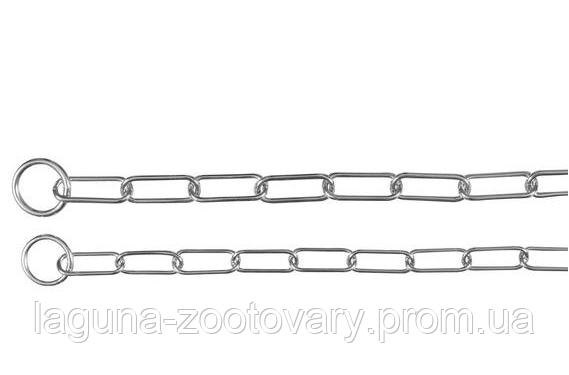 Удавка 52см/3мм двухкольцовая, длинное звено (металл) для собак, фото 2