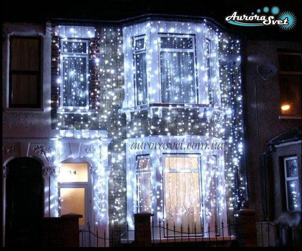 LED светодиодная гирлянда ДОЖДЬ 2*3м AuroraSvet 600 led (warm white)